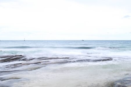 The Beautiful beach for soft focus with soft sky and blur at Samed island,Thailand.