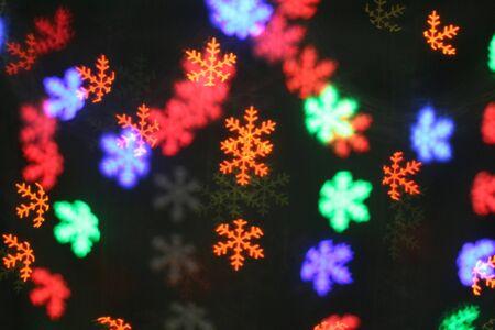 Colorful Snowflake bokeh