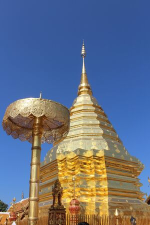 Wat Phra That Doi Suthep is a Theravada buddhist temple in Chiang Mai, Thailand