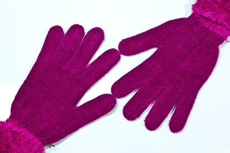 knitten: gloves on a white background