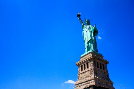 Statue of Liberty with Clear Blue Sky  photo