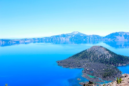 crater lake: Wizard Island, Crater Lake National Park, Oregon