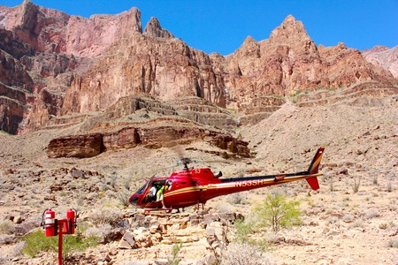 Helicopter parking in Grand Canyon National Park