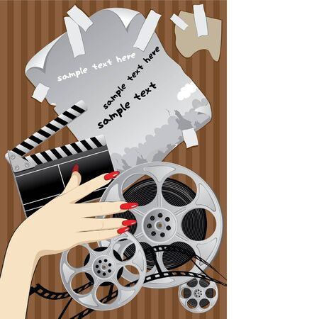 sets of objects to shoot a good old movie Stock Vector - 9420305
