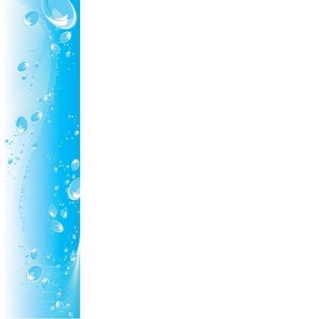 distilled water: Agua clara con un mont�n de burbujas Vectores