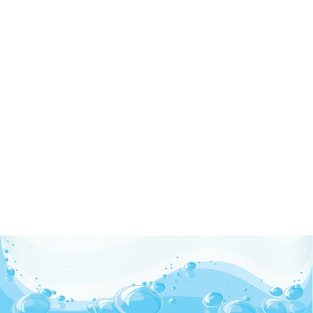 Clear clean water with lots of bubbles Vector
