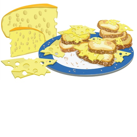 delicious sandwiches with cheese for breakfast
