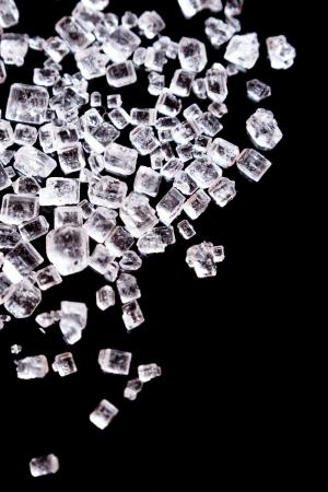 rock salt: Tiny sugar crystals