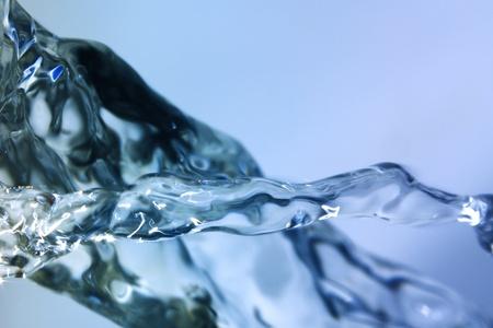 Schöne fließende Wasser Formen