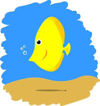 Cute funny comic fish Vector