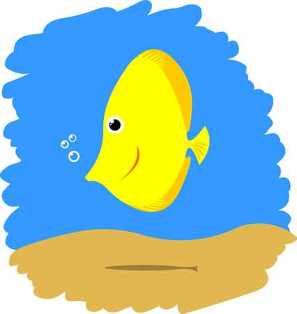 Cute funny comic fish Stock Vector - 12640606