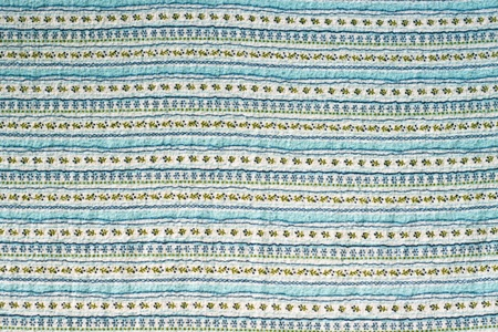 blue blanket: retro floral tablecloth pattern Stock Photo