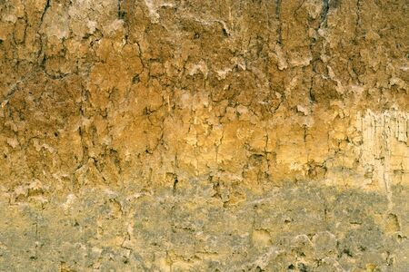 Soil layers on landslide photo