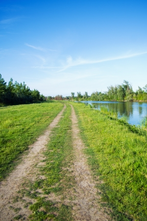 Pathway durch den Fluss Standard-Bild