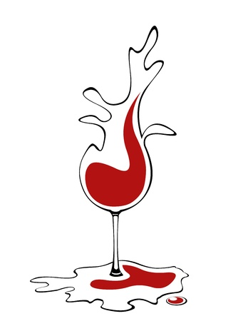 Abstract concept of liquid wine glass Vector
