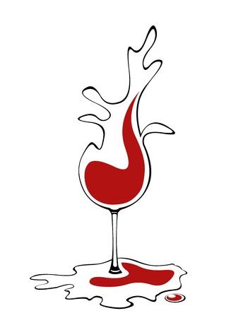 Abstract concept van vloeibare glas wijn