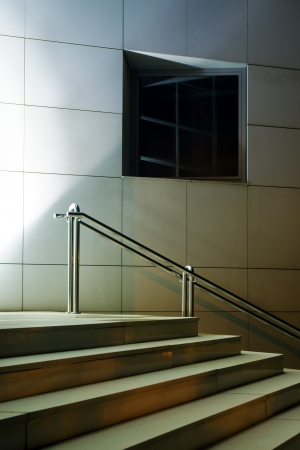 Stair and window on modern building entrance Stock Photo - 17746241