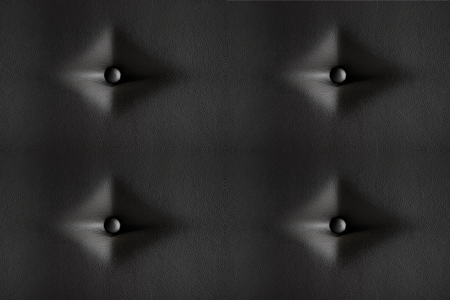 button tufted: Seamless black and white leather buttoned furniture texture Stock Photo