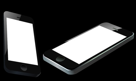 two smart mobile phones. easy editable layered vector illustration Stock Vector - 19017720