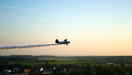 Airplane spraying  photo