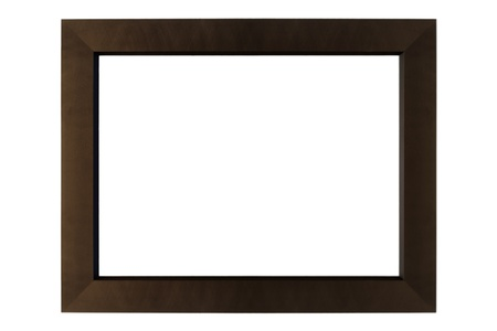 Modern empty picture frame isolated on white Stock Photo - 19757330