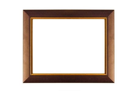 Retro empty picture frame isolated on white Stock Photo - 19757332