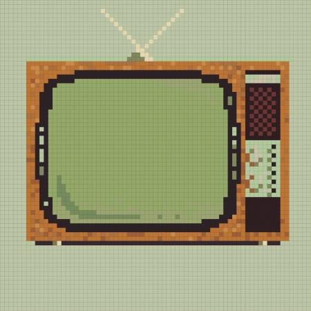 Pixel retro television vector Vector