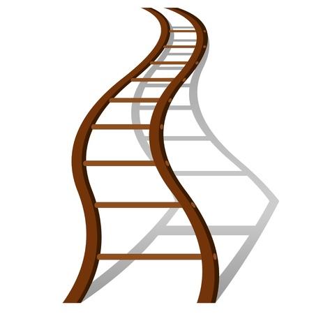 wooden work: Creativit� nel successo scaletta concetto illustrazione Vettoriali