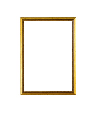 Empty modern picture frame isolated on white Stock Photo - 20175002