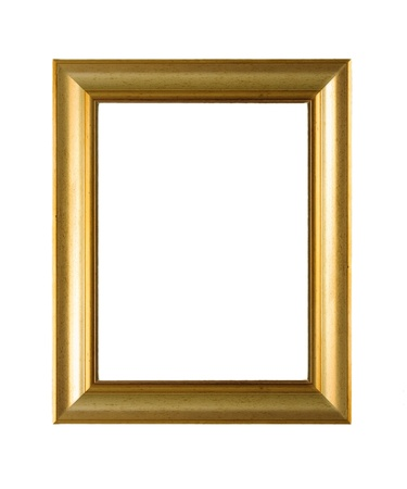 Retro empty picture frame isolated on white Stock Photo - 20175004