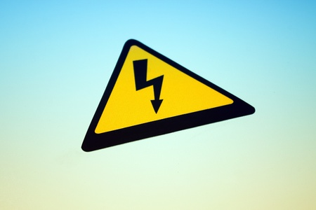 High voltage danger sticker in perspective photo