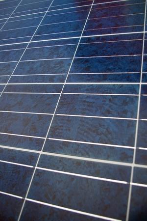 silicio: Cerca de la textura del panel solar