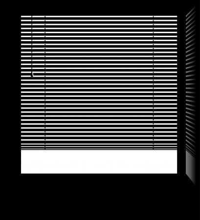Loket met jaloezie jaloezieën met geïsoleerde witte delen Stock Illustratie