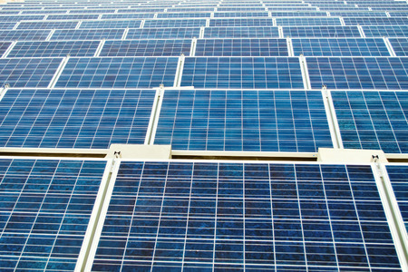 Endless solar panels photo