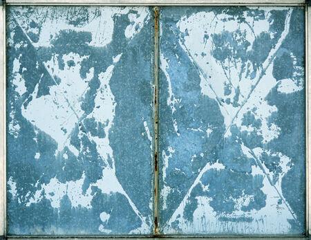 Blue industrial gate texture detail  photo