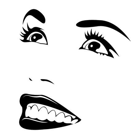 frau nach oben schauen: Portrait der sch�nen jungen Frau Gesicht blickte Tagtr�umen