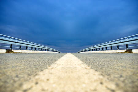 Low perspective of road on the overpass Stock Photo