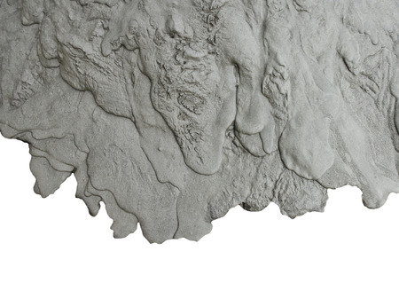 Vers vloeistof cement textuur op witte achtergrond