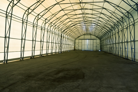 Empty tent warehouse