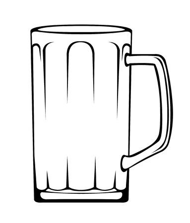 handle bars: Empty beer stein mug vector illustration