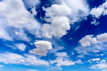 The Blue sky with clouds background