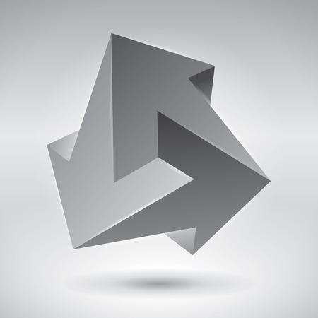 Impossible figure, 3 arrows, impossible arrows