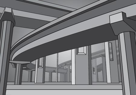 Vector overpass, vector bridge, automotive isolation, vector design
