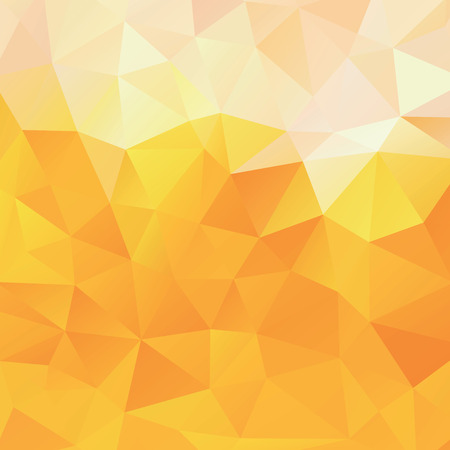 Background of the triangles, orange and yellow vector background, abstract beer, color mesh gradient, wallpaper for you project