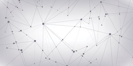 Viele Linien und Punkte. Zusammenfassung Hintergrund, Geometrie Tapeten, Vektor-Design