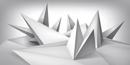 Forma geométrica del volumen, superficie de los cristales 3d, abstracción objeto de los polígonos bajos, forma del diseño del vector Ilustración de vector