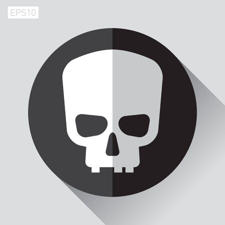 Icon skull in flat style, Jolly Roger, vector design element for you project