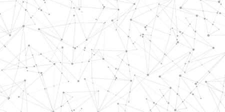 Many lines and points. Abstract background, geometry wallpaper, vector design