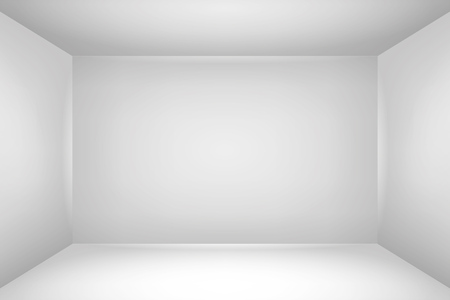 The inner space of the box. Empty white room. Vector design illustration