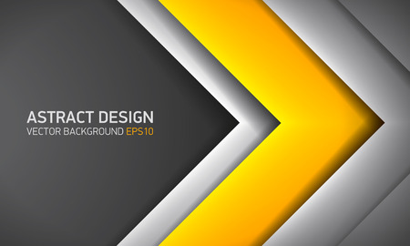 Abstract background, yellow inside, cover for project presentation, vector design.
